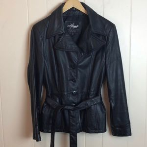 Wilsons Leather Maxima Belted Short Leather Jacket